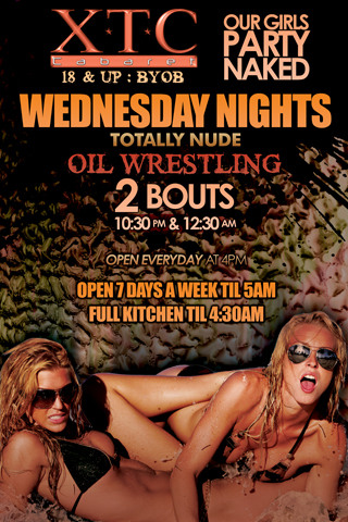 Weekly - Wednesdays - Oil Wrestling- Oil Wrestling