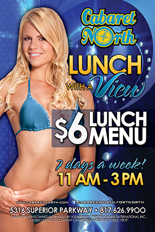 6 dollar lunch menu daily 11a-3pm