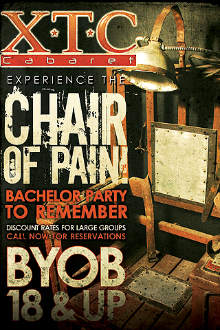 Chair Of Pain- BYOB & 18+ Adult Entertainment! Ask Manager's about our Chair of Pain to make it a night to remember!