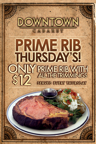 Weekly - Thursdays - Prime Rib Thursdays