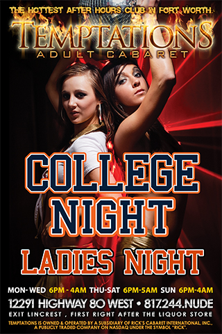 Weekly - Thursdays - College Night-