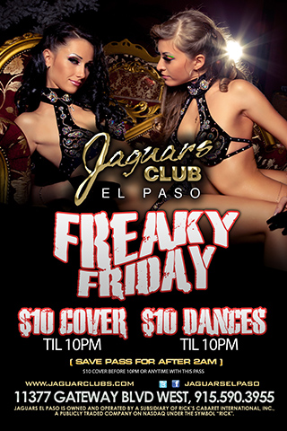 Freaky Friday - We are hosting the hottest after hours party every Friday. Freaky Friday is hosted by the hottest girls of Jag's open till 5am!!