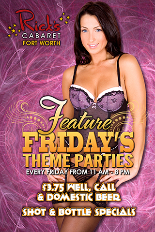 Feature Fridays Theme Parties