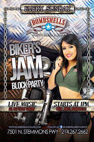 Bikers Jam Block Party with Live Music