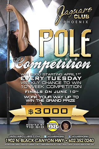 Pole Competition - Pole completion, Seems like everyone likes to make it rain. Well now you will have your opportunity to make it rain on the Valleys baddest pole dancers.